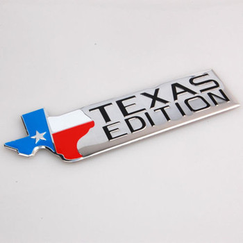 BARBEKÜ @ FUKA Oto Texas Bayrağı Texas Edition Fender Trunk Amblem Badge Decal Sticker Fit Için Chevrolet Ford F150 F250 35720