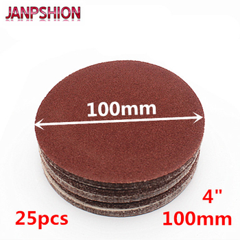 "JANPSHION 25 adet 4 ""100mm Peel & Çubuk Zımpara Grit Zımpara Zımpara Disk 60 80 120 180 240 320 400 600 800 1000 1200 45684"